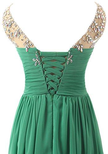 Lang Damen Abendkleider Elegant A Linie Empire Changjie Chiffon Perlen Gr¨¹N Abiballkleid Brautjungfernkleid vFIdOInxw
