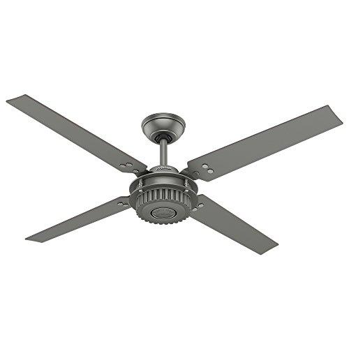 Matte Silver Ceiling Fan - Hunter Fan Company 59236 Hunter 54