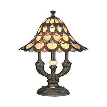 Dale Tiffany Ta70112 Peacock Table Lamp 19 X 16 X 16 Antique
