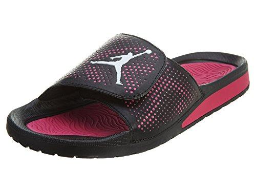 Jordan Youth Sandals Slides Black White VividPink 6 product image