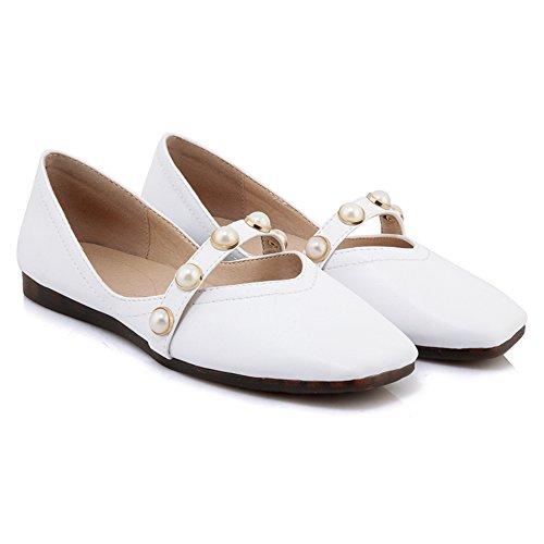 White TAOFFEN Scarpe Basse Ballerine Comodo Convenienti Donna Ww8qqH7xY