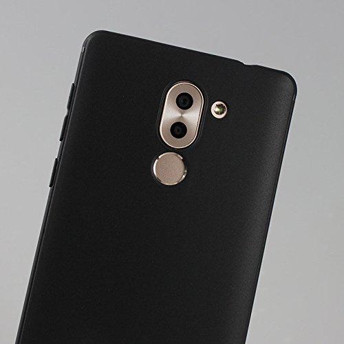 Funda para Huawei Mate 9 Lite / Honor 6X , IJIA Puro Negro Familia De Gato TPU Silicona Suave Cover Tapa Caso Parachoques Carcasa Cubierta Case para Huawei Mate 9 Lite / Honor 6X (5.5) Black-XY23