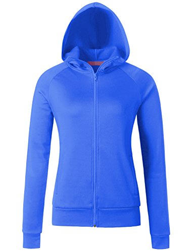 Womens Microfleece Full Zip Jacket - Regna X Womens Ladies Full-Zip Microfleece Jacket Melange Blue Medium