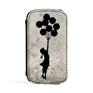 Banksy Balloon Girl Premium Faux PU Leather Case, Protective Hard Cover Flip Case for Samsung? Galaxy S3 by Chargrilled + FREE Crystal Clear Screen Protector