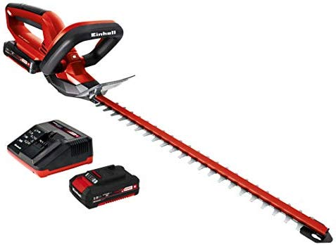 Einhell GE-CH 1846 Li Kit - Recortasetos inalámbrico 18V (longitud de corte: 460mm, longitud de la hoja: 520mm, espacio entre dientes: 15mm, incluye ...