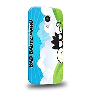 Case88 Premium Designs Bad Badtz-Maru Collection Bad Badtz-Maru Hana-Maru Carcasa/Funda dura para el Motorola Moto G (2nd Gen.)
