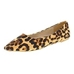 b782b0e066f Gold Toe Women s Ashanti Brown Leopard Print Pointy Toe Balle .