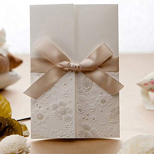 1pcs Sample Wedding Invitations Laser Cutting Invitation Card for Wedding Blank Inner Sheet Hollow Birthday Invitation ()