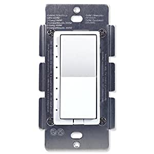 HomeSeer HS-WD100+ Z-Wave Plus Scene-Capable Wall Dimmer, Works with Amazon Alexa