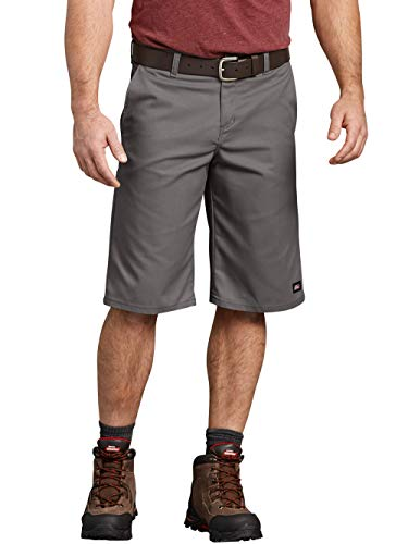 (Dickies Men's 13 Inch Relaxed Fit Multi-Pocket Flex Work Short (Gravel Gray, 36) )