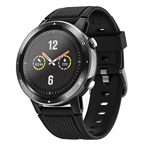 Letsfit GPS Smart Watch, Glonass Sport Watch with Compass, All-Day Activity Fitness Tracker with Heart Rate Monitor, 5ATM Waterproof Swimming Smartwatch with Pedometer for Men Woman
