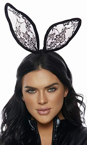 Lace Bunny Ears Black -