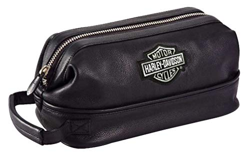 Harley Davidson Leather Toiletry Kit, - Davidson Leather Bags Harley