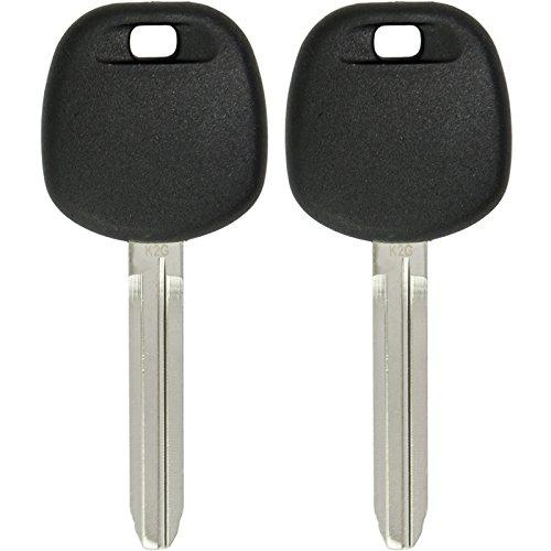 Keyless2Go 2 Replacement Transponder Ignition Chip Car Key TOY44G-PT for Corolla Camry Avalon Rav4
