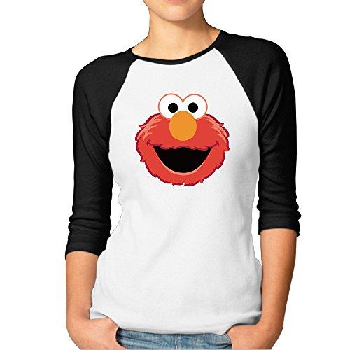 Women The Muppet Elmo Face Raglan T -