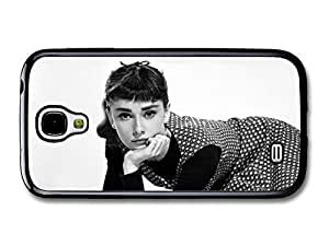 AMAF ? Accessories Audrey Hepburn Black & White Dress Posing case for Samsung Galaxy S4