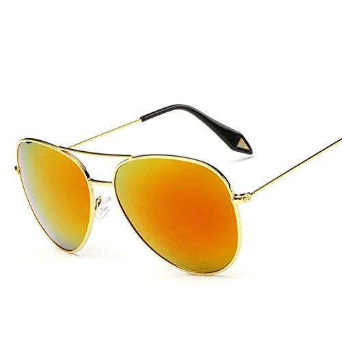 2 de Gafas Marco Gran Espejo Color de Gafas Lente X9 Vintage 7 sol polarizada Película amp; de amp;Gafas Gafas personalidad protecciónn qwnSSfRX