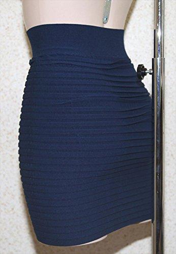 femme Mini fourreau Marine jupe extensible moulante tube skirt fZZgEqw