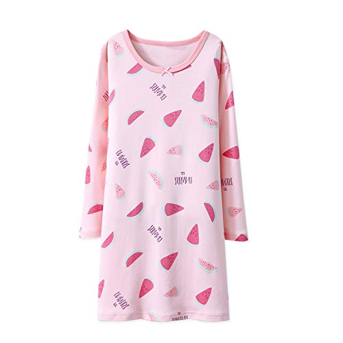 Toddler Girls' 100% Cotton Nightgowns Watermelon Homewear Dress Winter Sleepwear 6X]()