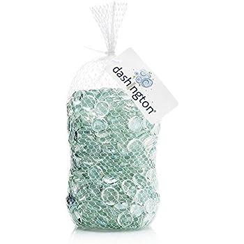 Dashington Flat Clear Marbles, Pebbles (5 Pound Bag) for Vase Filler, Table Scatter, Aquarium Decor