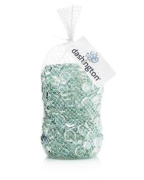 Dashington Flat Clear Marbles, Pebbles (5 Pound Bag/80oz) for Vase on amazon wallets, amazon wine decanter, amazon garden stools, amazon frames,