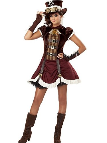 California Costumes Steampunk Girl Tween Costume, (Tween Costumes)