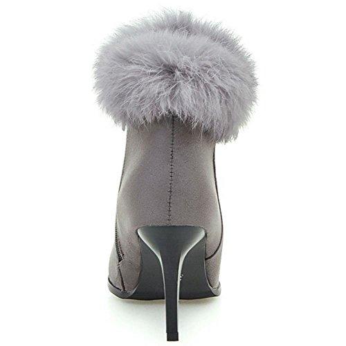 COOLCEPT Botines Elegante para Mujer Gray