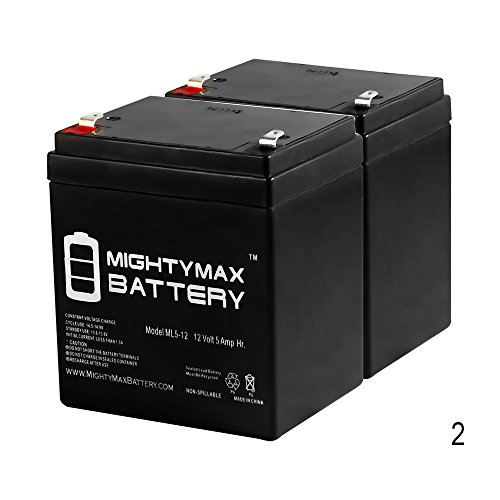 Mighty Max Battery 12V 5AH Battery for Razor E100 E125 E150 E175 Scooter - 2 Pack brand product Razor E100 Battery