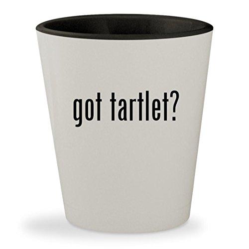 got tartlet? - White Outer & Black Inner Ceramic 1.5oz Shot Glass (Sonoma Shot Glass)
