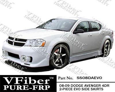 Evo Skirts 4 Side (2008-2012 Dodge Avenger 4dr Body Kit EVO Side Skirt)