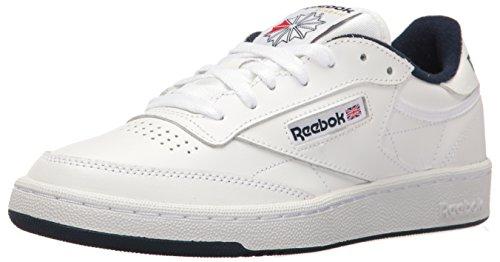 Reebok Men's Club C 85 Fashion Sneaker, Black, D(M) US Int-white/Navy