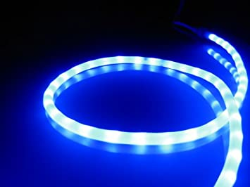 Amazon 50ft rope lights royal blue led rope light kit 10 50ft rope lights royal blue led rope light kit 10quot led spacing aloadofball Image collections