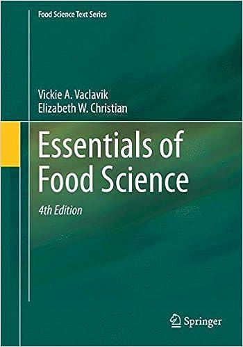 Essentials of Food Science 3th Ed. - V. Vaclavik  [PDF]