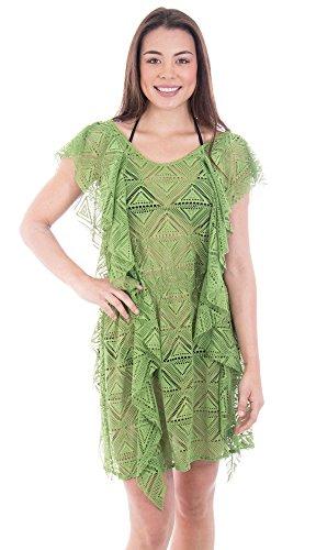 Verabella Womens Fashion Summer Crochet Swimwear Cover Up Beach Dress