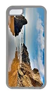 case uncommon Sand Beach Malibu TPU Transparent Case for iphone 5C