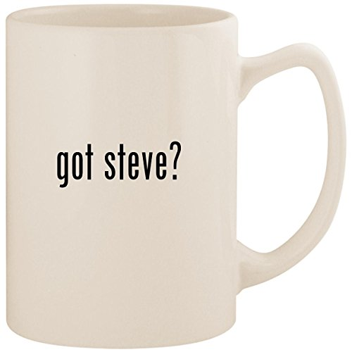got steve? - White 14oz Ceramic Statesman Coffee Mug Cup