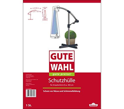 Dehner Gute Wahl Schutzhülle für Ampelschirm, ca. 200 x 60 x 22 cm, Polyethylen, transparent
