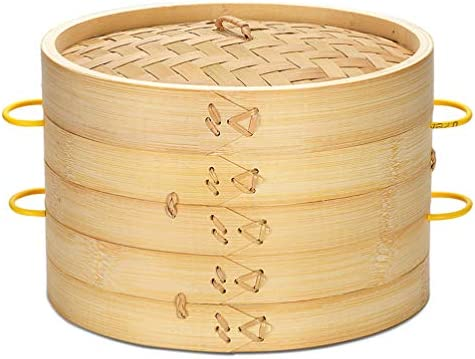 41BKrdhCU9L. AC DOITOOL Natural Bamboo Steamer Basket Set with Handle and Lid 20cm Traditional Chinese Steamer Basket Food Steaming Pot for Dumpling Bao Bun Dim Sum     Description 2 pcs Bamboo Steamer Kitchen Round Buns Steamer Cookware Food Steamer Cooking Tools for Restaurant Home