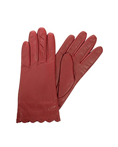 Isotoner SmarTouch Enabled All Over Leather Scalloped Tech Gloves (8.5/9,...