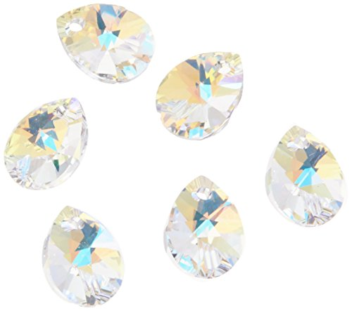 Swarovski - Create Your Style Mini Pear Pendant 10mm AB 3 packages of  6 Piece (18 Total (Mini Pear)