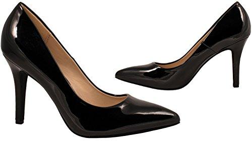 con Nero chunkyrayan scarpe con eleganti tacco a comode punta stiletto Elara tacco pump con wCpgpqa