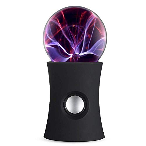 (Plasma Ball Static Electro Black Magic Ionosphere Wireless Bluetooth Speaker Rave Light Up Stereo Party Music Device Portable Light Show w/HD Sound)