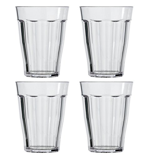 US Acrylic Rhapsody 12-ounce Plastic Tumblers | set of 8 Clear