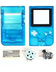 OSTENT Full Housing Shell Case Cover Replacement for Nintendo GBP Game Boy Pocket Console Color Clear Blue