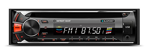 Blaupunkt DETROIT 100 BT CD, AM/FM-MPX2 Bluetooth Car Stereo Receiver with Remote Control and Removable Face - Stereo Face Car