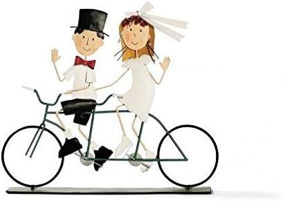 Figura novios en bicicleta para tarta: Amazon.es: Hogar