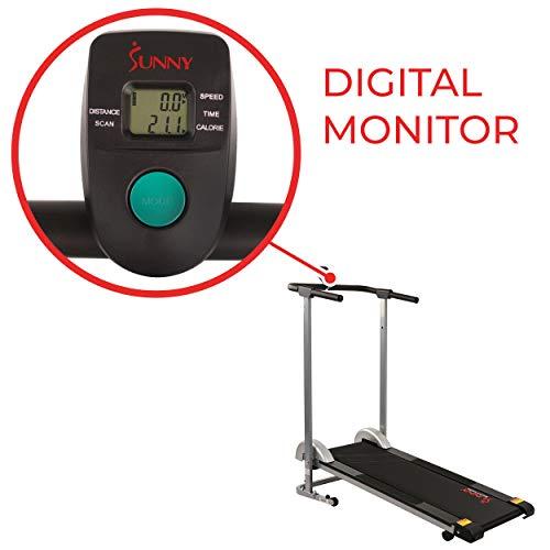 Sunny Health & Fitness SF-T1407M Manual Walking Treadmill, Gray by Sunny Health & Fitness (Image #3)