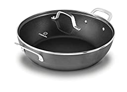 Calphalon 1932442 Classic Nonstick All Purpose Pan with Cover, 12-Inch, Grey