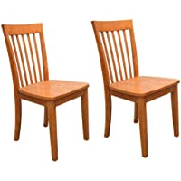 Kings Brand Furniture - Set of 2 Heavy Duty Solid Wood Dining Room - Kitchen Side Chairs (Maple)