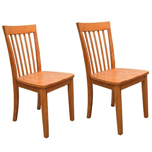 Kings Brand Furniture   Set Of 2 Heavy Duty Solid Wood Dining Room    Kitchen Side Chairs (Maple)